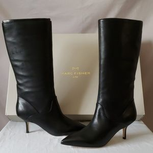Marc Fisher Black Leather Boot